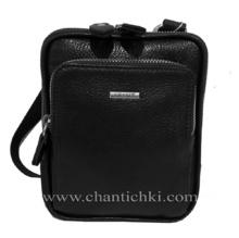 Мъжка чанта  в черно - естествена кожа