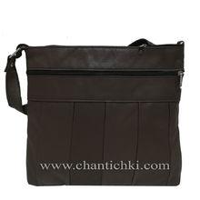 Дамска чанта през рамо - естествена кожа