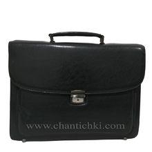 Бизнес чанта в черно с дълга дръжка