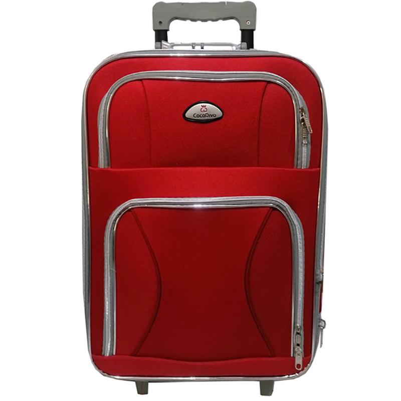 Текстилен куфар с три колела - голям