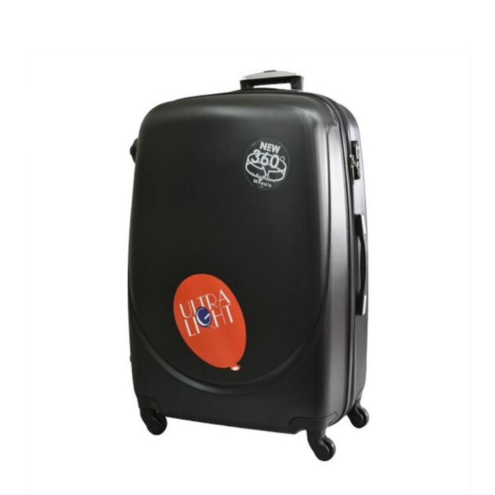Куфар  ABS - среден , 65/27/44 , С разширител , Черен