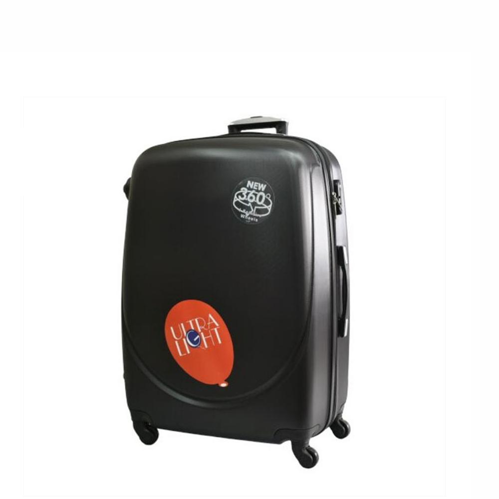 Куфар  ABS - малък , 55/24/38 , С разширител , Черен