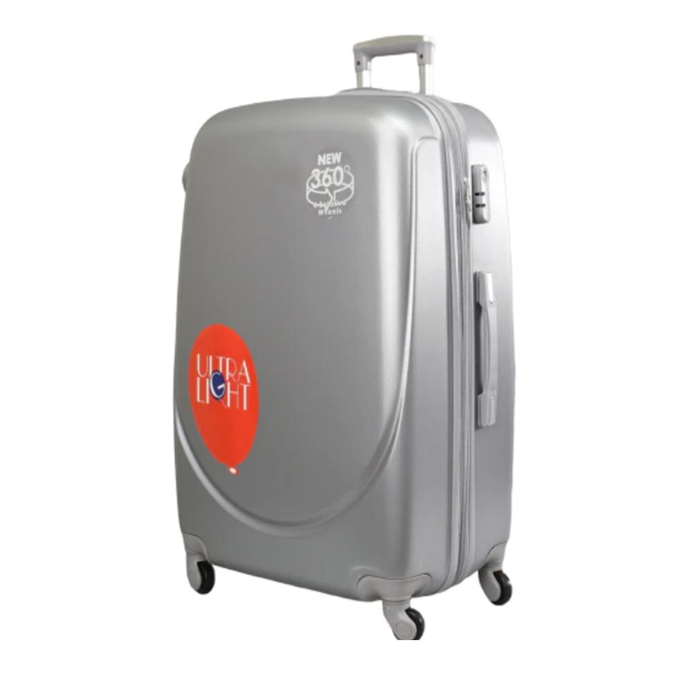 Куфар ABS- голям , 75/31/49 , С разширител , светло сив/сребрист