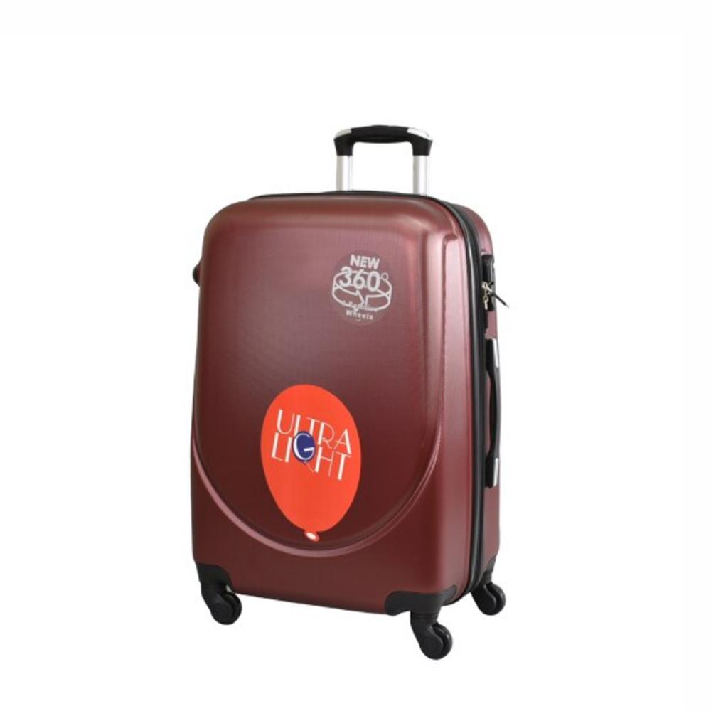 Куфар  ABS - малък , 55/24/38 , С разширител , Бордо