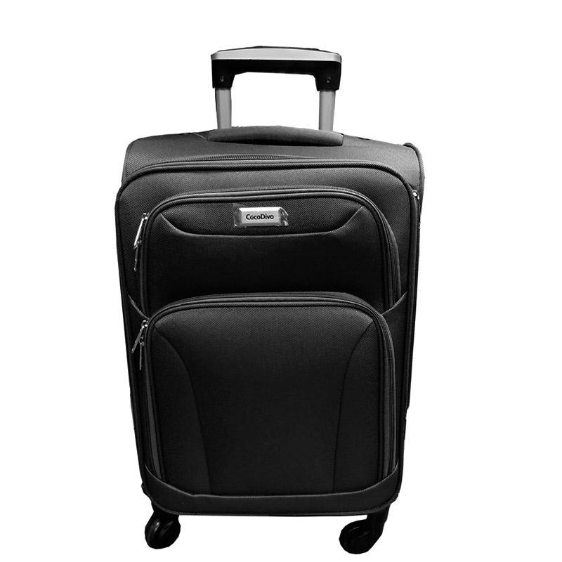 Текстилен куфар на четири колела- среден