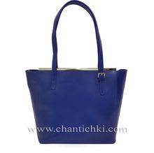 Луксозна дамска чанта  в синьо