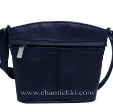 Малка дамска чантичка през рамо в тъмно синьо