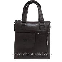 Мъжка бизнес чанта  J E E P  - тъмно кафяво