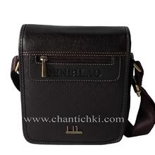 Мъжка чанта Denbilao в тъмно кафяво