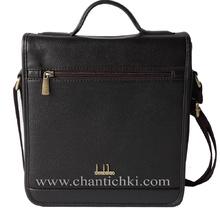 Мъжка чанта Denbilao с дръжка  в тъмно кафяво