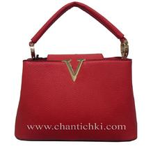 Мини дамска чанта в червено