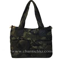 Дамска камуфлажна чанта в зелено
