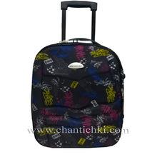 Малък супер куфар за ръчен багаж  с дръжка и две колелца