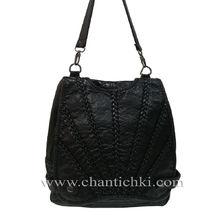 Дамска чанта - раница варена кожа