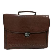 Бизнес чанта в кафяво с дълга дръжка