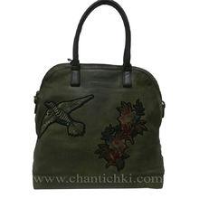 Дамска чанта Елизабет в тъмно зелено