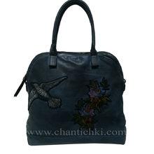 Дамска чанта Елизабет в тъмно синьо